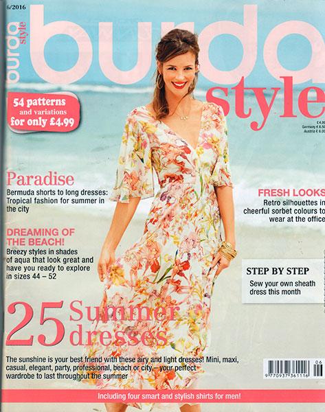 Burda June 16 - cover