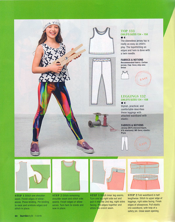 burda0716_tweentopleggings