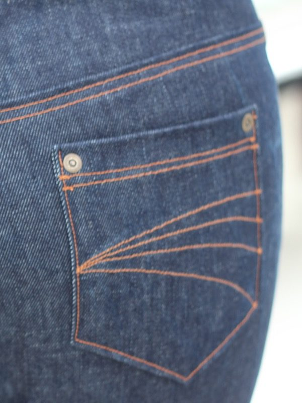 2nd cycling jeans - back pocket detail