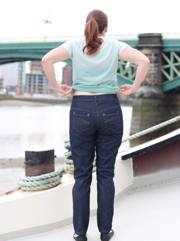 2nd cycling jeans - back view