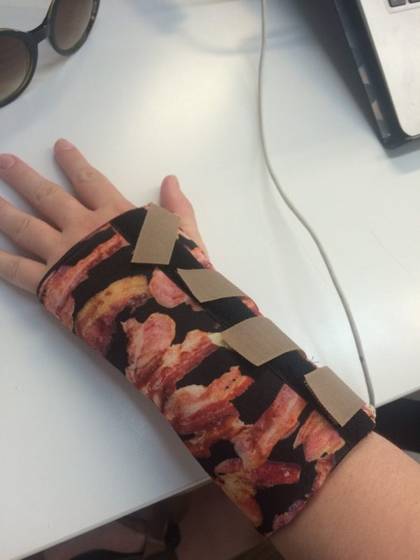 Bacon splint - top