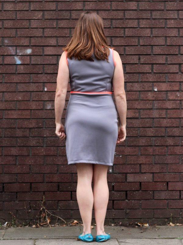 Triple Triangle dress - back