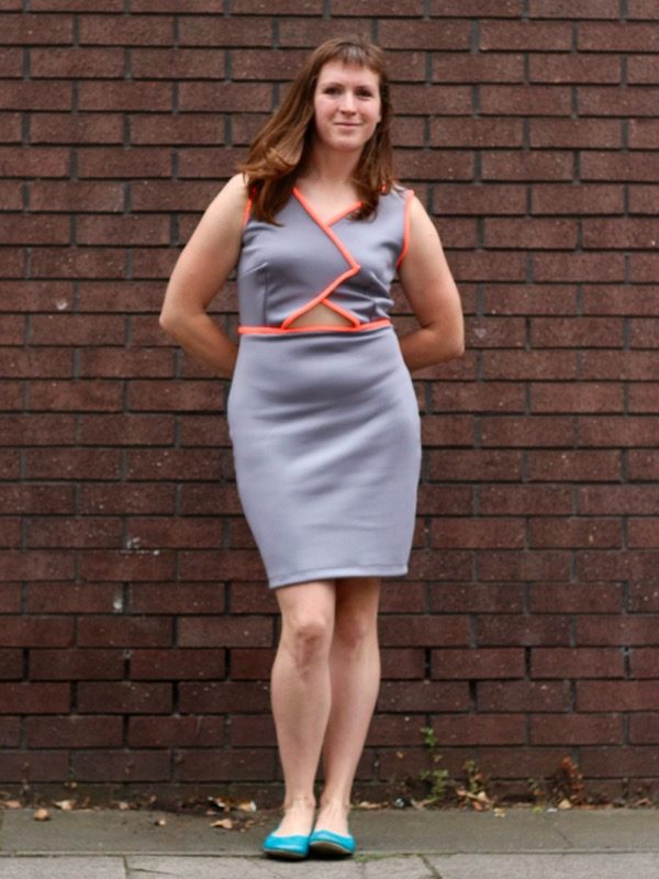 Triple Triangle dress - hands behind