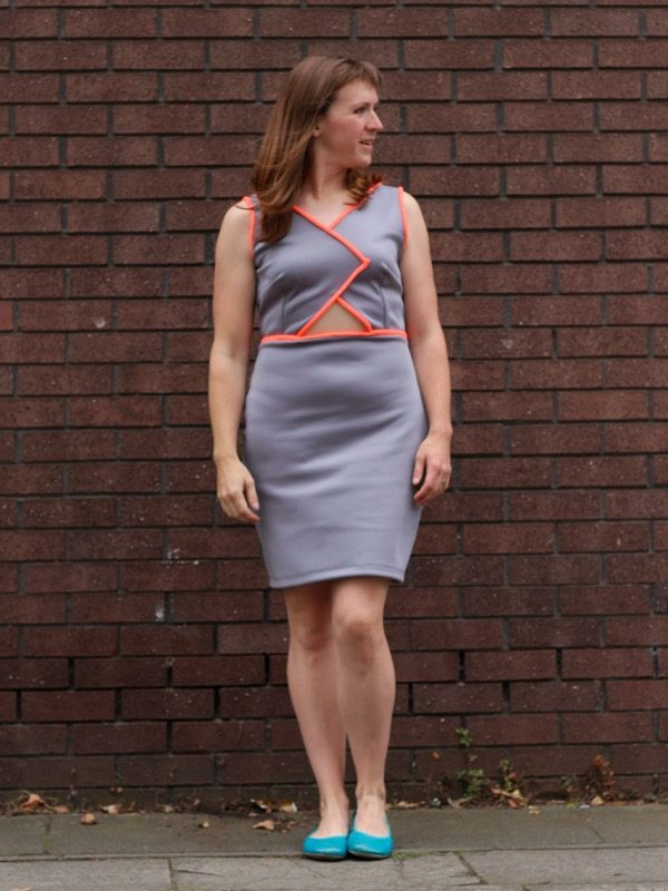 Triple Triangle dress - looking sideways