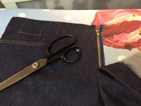 jeans - fly with tailors shears