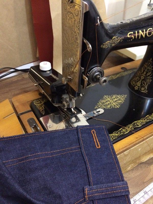 jeans vintage buttonholer