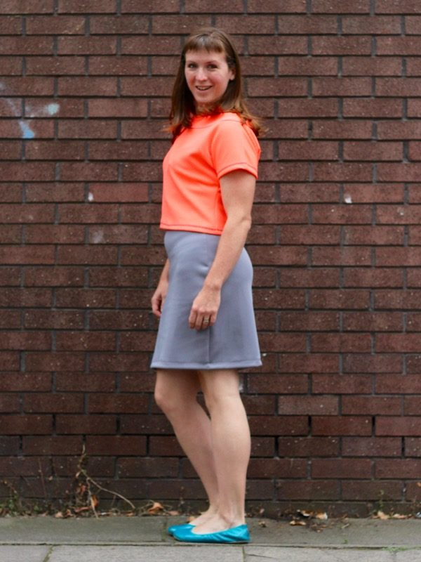 neon crop over dress - side