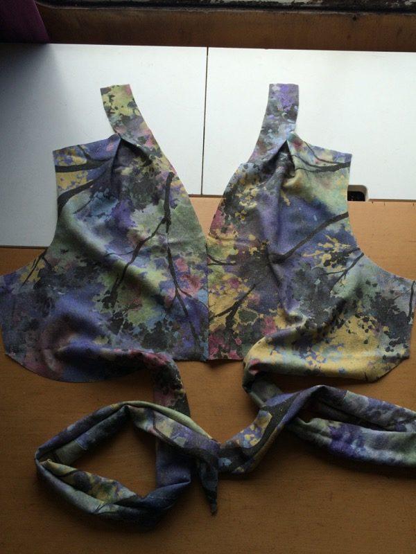 silk noile dress bodice