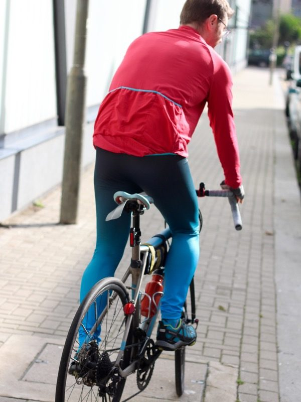 James ombre Lightspeed - on bike back view