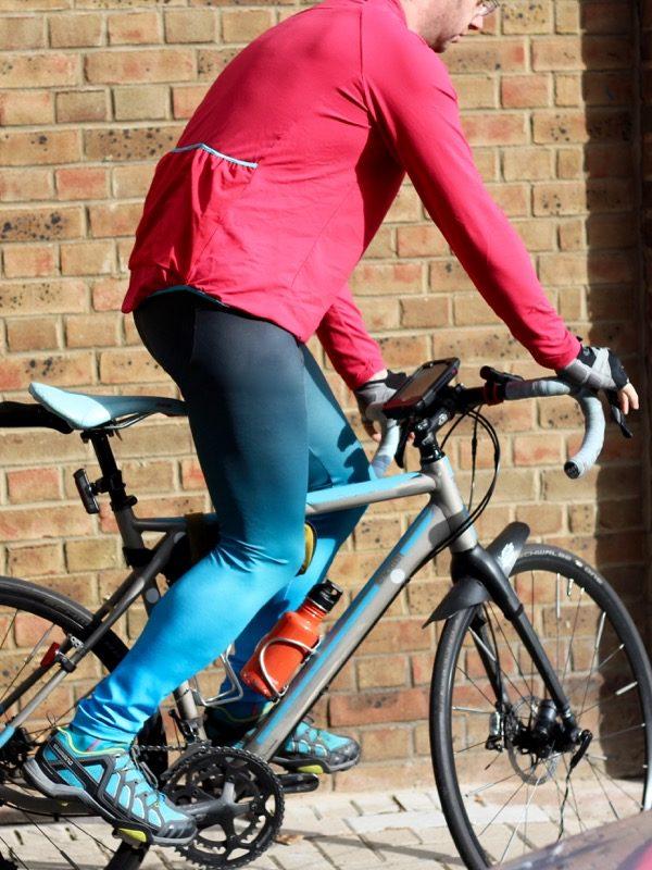 James ombre Lightspeed - on bike detail