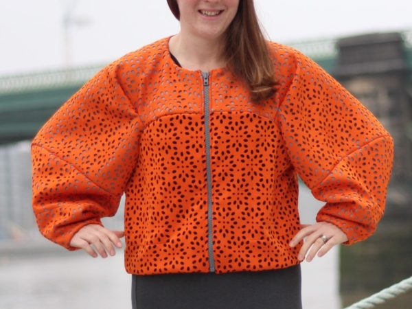 sewdots jacket - arms out detail
