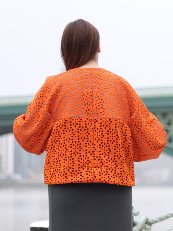 sewdots jacket - back view