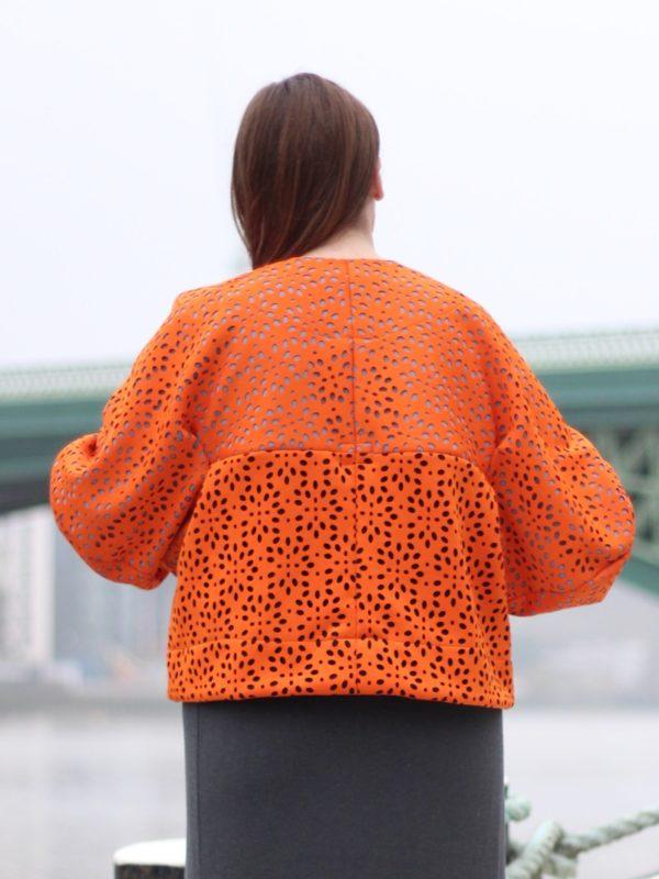sewdots jacket - back view
