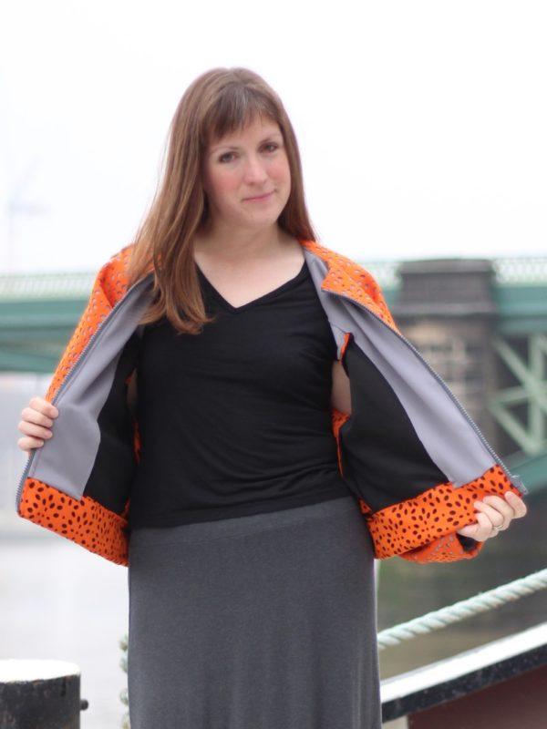 sewdots jacket - jacket open