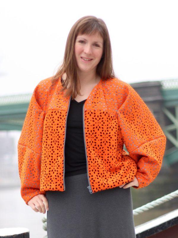 sewdots jacket - jacket unzipped