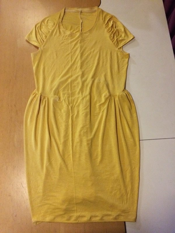 yellow Drape Drape dress - laid flat