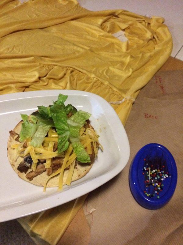 yellow Drape Drape dress - taco