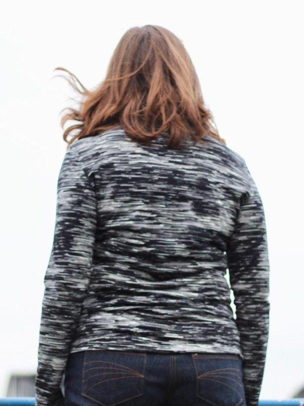 Monochrome turtleneck - back view