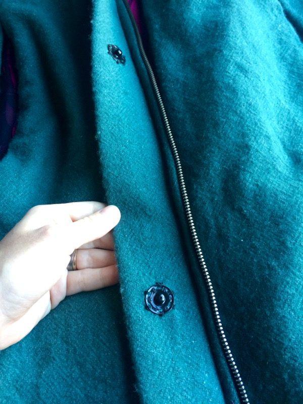 cape zipper and half snaps