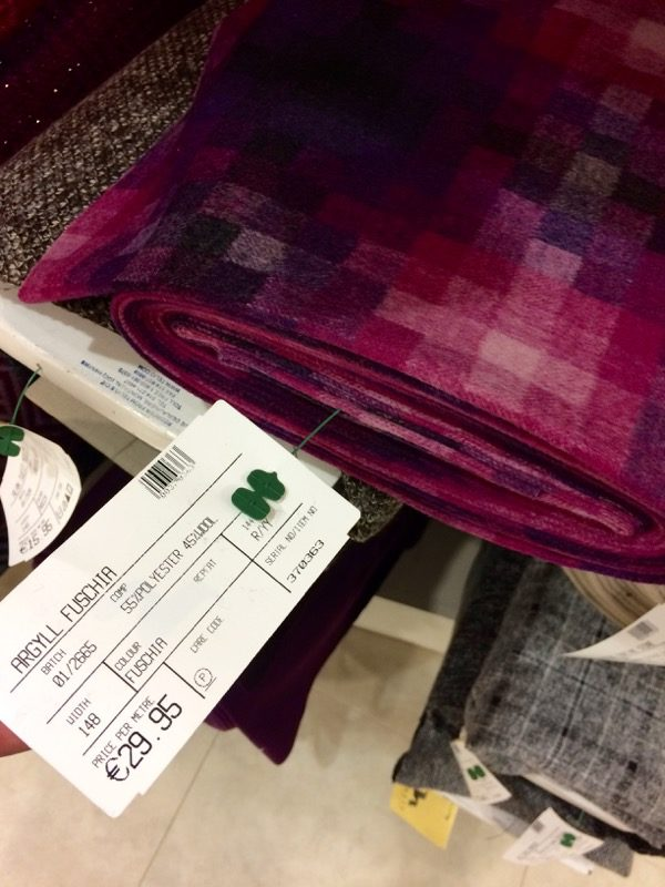 geometric wool - price tag