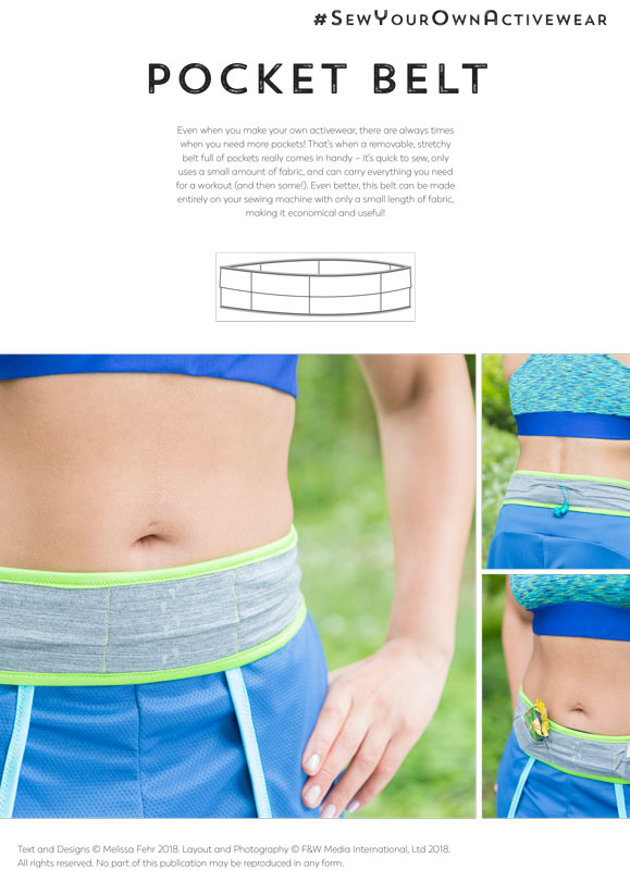 Sew Your Own Activewear bonus Pocket Belt pattern