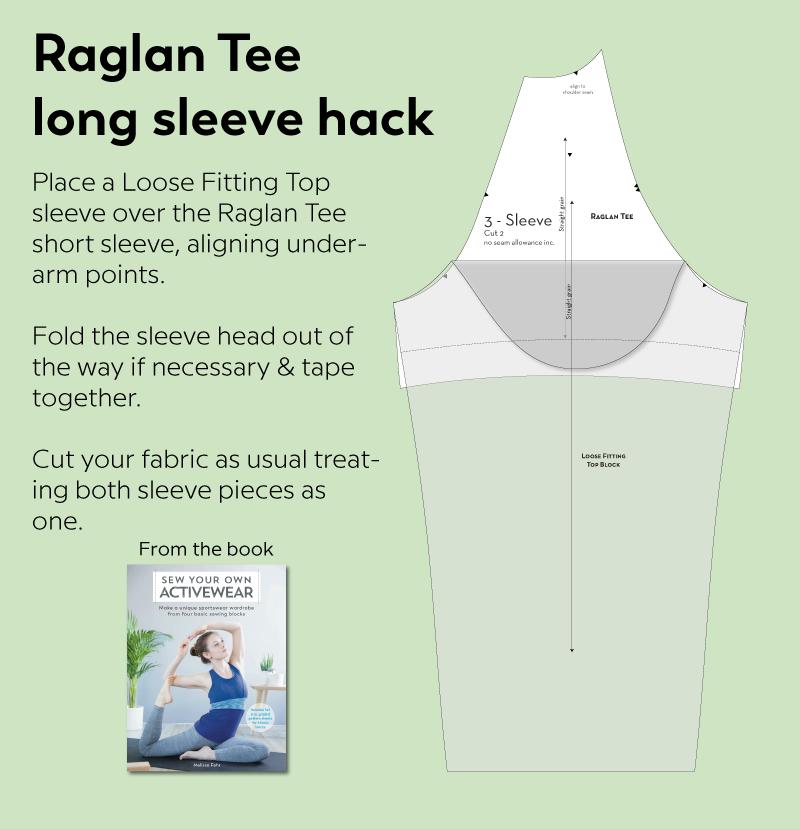 Raglan Tee long sleeve hack illustration