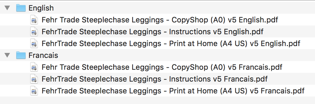 Steeplechase Leggings file list